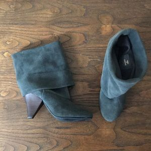 Size 7 Gray Steve Madden Slouch Leather Booties